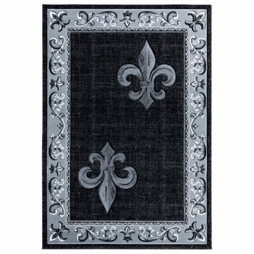 United Weavers of America 2050 11272 28C 2 ft. 7 in. x 7 ft. 4 in. Bristol Lilium Gray Rectan Perspective: front