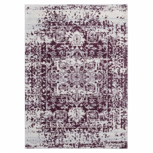 United Weavers of America 713 20338 28E 2 ft. 7 in. x 7 ft. 2 in. Abigail Lileth Wine Rectang Perspective: front