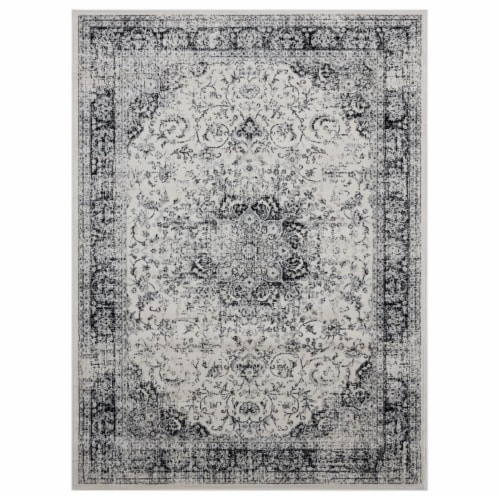 United Weavers of America 4000 40076 1013 9 ft. 10 in. x 13 ft. 2 in. Clairmont Latakia Onyx Perspective: front