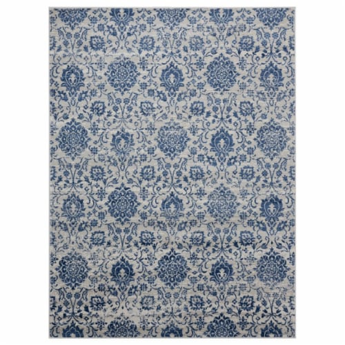 United Weavers of America 4000 40261 24 1 ft. 10 in. x 3 ft. Clairmont Arish Denim Blue Recta Perspective: front