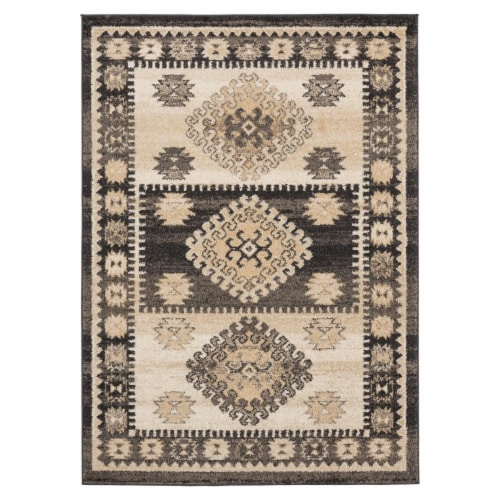 United Weavers of America 3801 30054 1013 9 ft. 10 in. x 13 ft. 2 in. Marrakesh Emir Walnut R Perspective: front