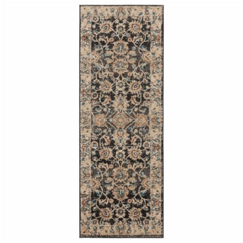 United Weavers of America 3801 30254 28E 2 ft. 7 in. x 7 ft. 2 in. Marrakesh Bey Walnut Recta Perspective: front