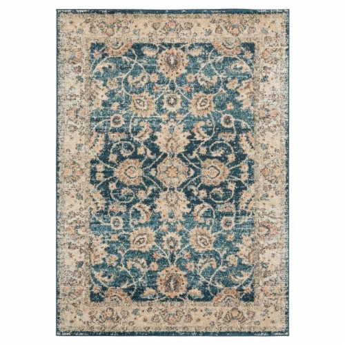 United Weavers of America 3801 30262 912 7 ft. 10 in. x 10 ft. 6 in. Marrakesh Bey Cerulean R Perspective: front
