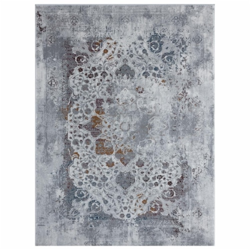 United Weavers of America 4525 10333 58 Madrid Havana Brick Area Rectangle Rug, 5 ft. 3 in. x Perspective: front
