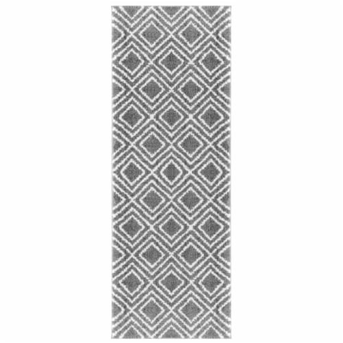 United Weavers of America 1840 20072 28E 2 ft. 7 in. x 7 ft. 2 in. Tranquility Stellan Gray R Perspective: front
