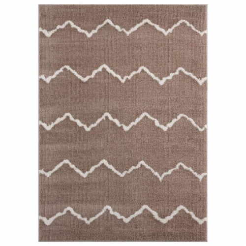 United Weavers of America 1840 20426 58 5 ft. 3 in. x 7 ft. 2 in. Tranquility Galen Beige Rec Perspective: front