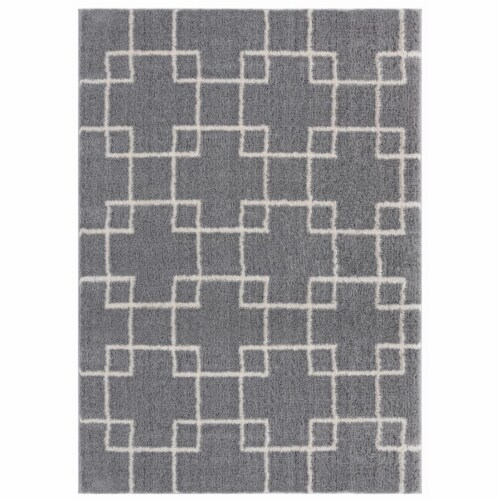United Weavers of America 1840 20572 912 7 ft. 10 in. x 10 ft. 6 in. Tranquility Aaru Gray Re Perspective: front