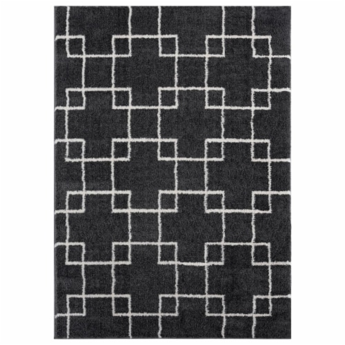 United Weavers of America 1840 20577 58 5 ft. 3 in. x 7 ft. 2 in. Tranquility Aaru Smoke Rect Perspective: front