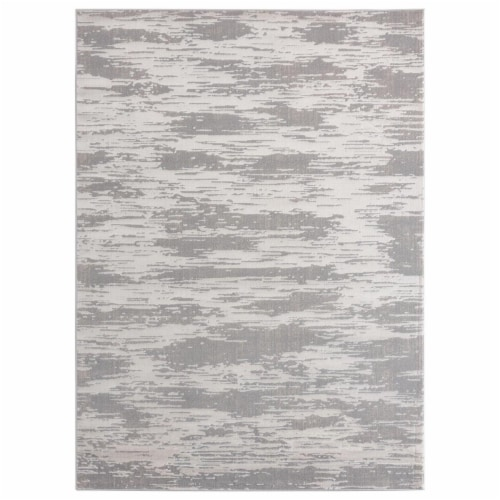 United Weavers of America 2601 10971 58 Cascades Salish Silver Area Rectangle Rug, 5 ft. 3 in Perspective: front