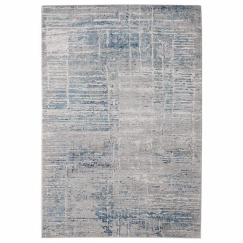 United Weavers of America 4520 10172 912 Aspen Thoreau Grey Area Rectangle Rug, 7 ft. 10 in. Perspective: front