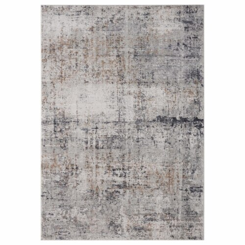 United Weavers of America 4520 10372 58 Aspen Olathe Grey Area Rectangle Rug, 5 ft. 3 in. x 7 Perspective: front