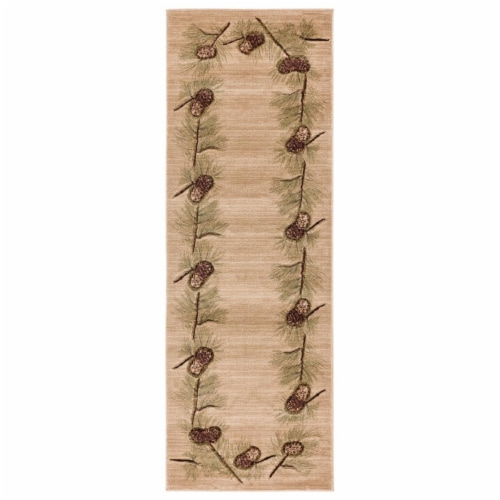 United Weavers of America 2055 40926 28C Cottage Farmington Beige Runner Rug, 2 ft. 7 in. x 7 Perspective: front