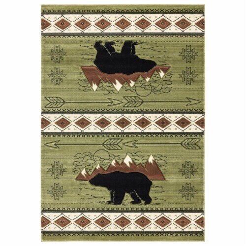 United Weavers of America 2055 41845 35C Cottage Timberland Green Area Rectangle Rug, 2 ft. 7 Perspective: front