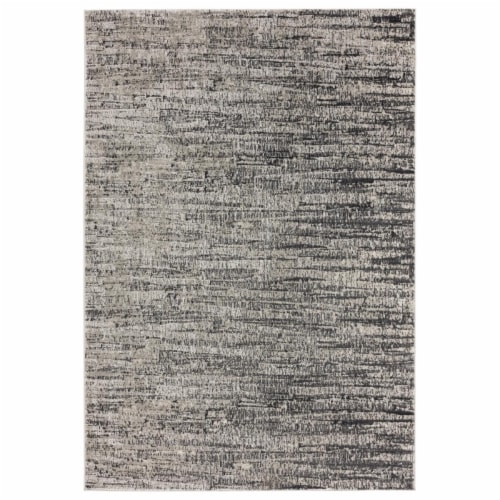 United Weavers of America 2610 20872 58 Veronica Ives Grey Area Rectangle Rug, 5 ft. 3 in. x Perspective: front