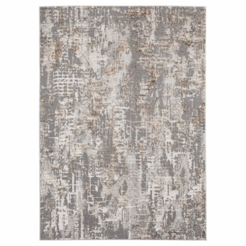 United Weavers of America 2640 40691 58 Emojy Varina Wheat Area Rectangle Rug, 5 ft. 3 in. x Perspective: front