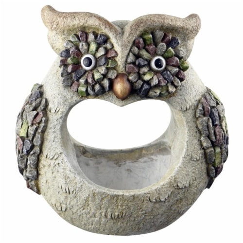 Red Carpet Studios 21051 3D Owl Planter - 12.3 x 7.09 x 12.80 in. Perspective: front