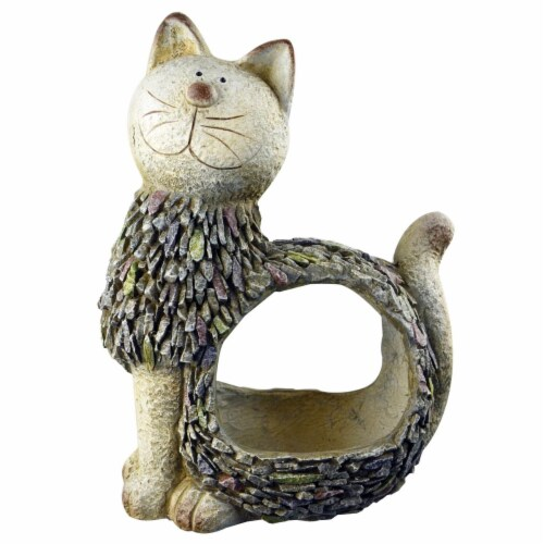 Red Carpet Studios 21053 3D Cat Planter - 12.20 x 7.49 x 16.41 in. Perspective: front