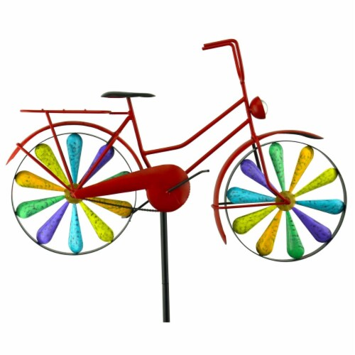 Red Carpet Studios 34479 Stake Bicycle Rainbow Perspective: front