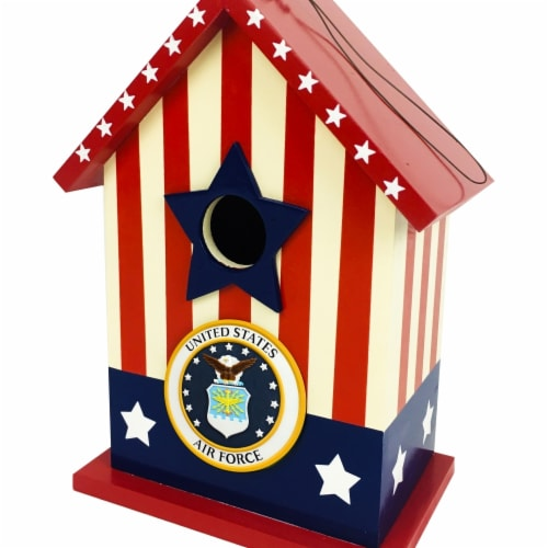 Red Carpet Studios Air Force Bird House - 6.5 x 3.94 x 8.74 in. Perspective: front
