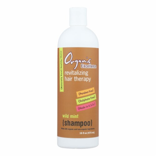 Organic Excellence Wild Mint Shampoo Perspective: front