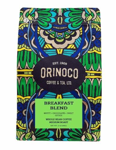 Orinoco Coffee & Tea  Whole Bean Coffee Medium Roast    Breakfast Blend Perspective: front