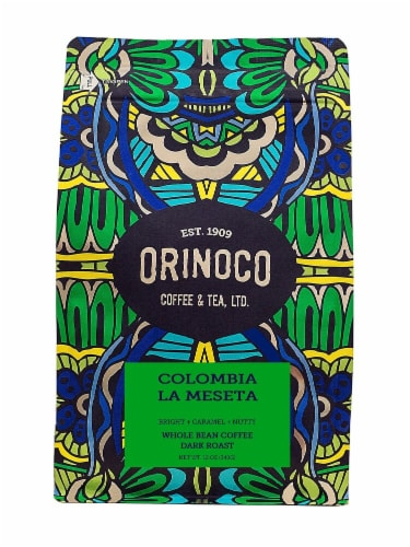 Orinoco Coffee & Tea  Whole Bean Coffee Dark Roast    Colombia La Meseta Perspective: front