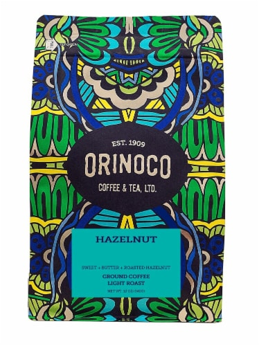 Orinoco Coffee & Tea  Ground Coffee Light Roast    Hazelnut Perspective: front