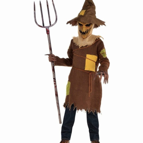 Amscan 281812 Halloween Scary Scarecrow Child Costume - Medium Perspective: front