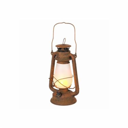 Winsome House Flaming Lights Antique LED Lantern Perspective: front