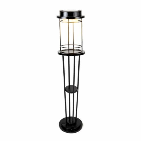 Winsome House Disc Solar Bollard Light Perspective: front