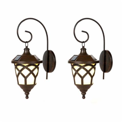 Winsome House Solar Sconces - Set of 2 Perspective: front