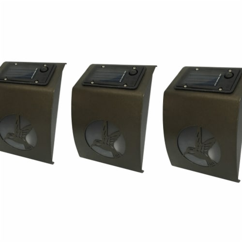 Winsome House Hummingbird Solar Wall Lights - Set of 3 Perspective: front