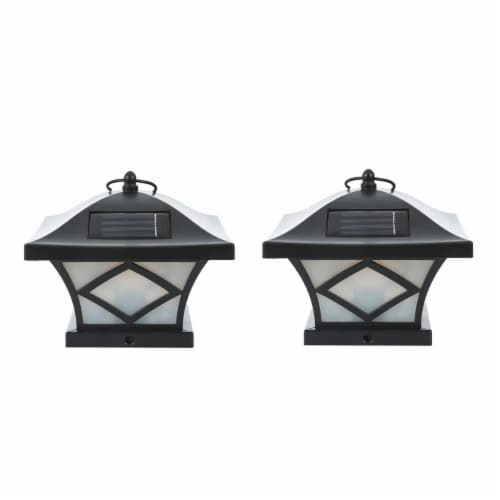 Winsome House Traditional Solar Post Lights - Set of 2 Perspective: front