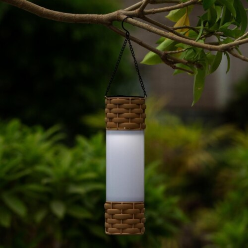 Luxen Home 3in. Dia. Solar Hanging Accent Lantern Perspective: front
