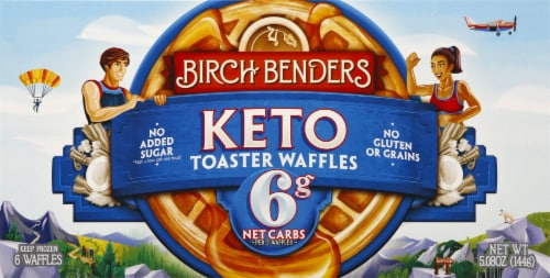 Birch Benders Keto Toaster Waffles 6 Count Perspective: front