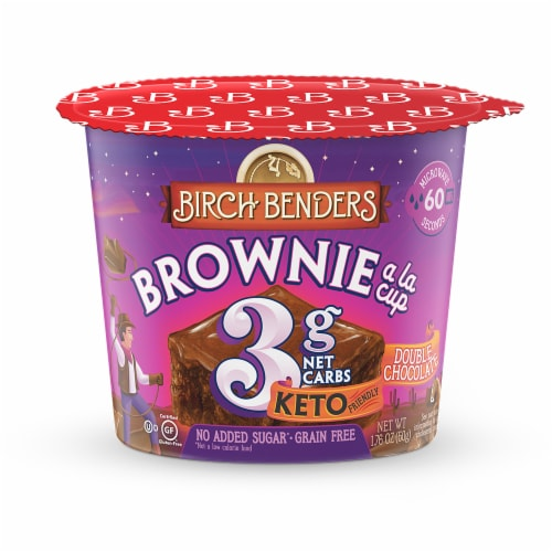Birch Benders Brownie a la Cup Double Chocolate Brownie Mix Perspective: front