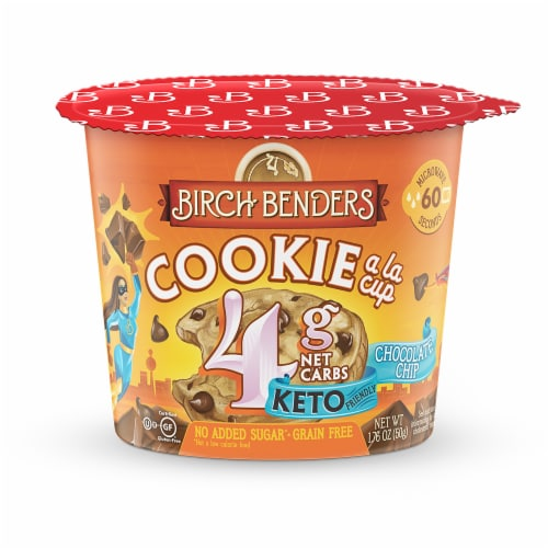 Birch Benders Keto Chocolate Chip Cookie a la Cup Perspective: front