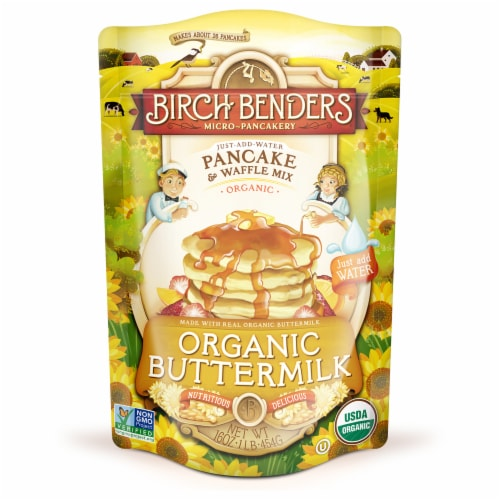 Birch Benders Organic Buttermilk Pancake and Waffle Mix Perspective: front