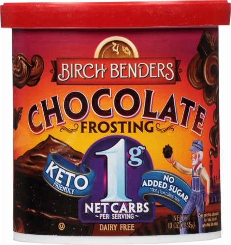 Birch Benders Keto Chocolate Frosting Perspective: front