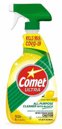 Comet Ultra Lemon Scent All-Purpose Cleaner with Bleach Perspective: front