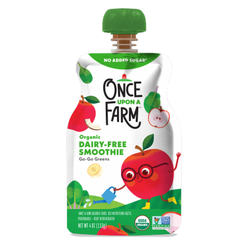 Once Upon a Farm™ Organic Go Go Greens Smoothie Pouch Perspective: front