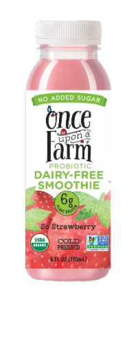 Once Upon A Farm So Strawberry Probiotic Dairy-Free Smoothie Perspective: front