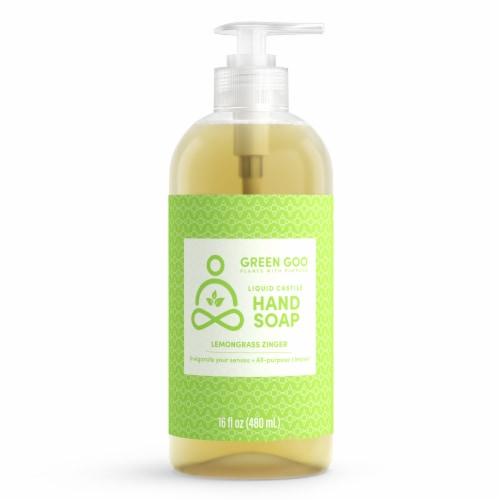 Green Goo Lemongrass Zinger Liquid Castile Hand Soap Perspective: front