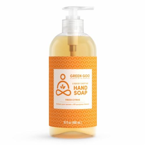 Green Goo Fresh Citrus Liquid Castile Hand Soap Perspective: front