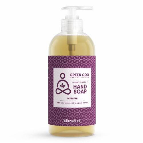 Green Goo Liquid Castile Lavender Hand Soap Perspective: front