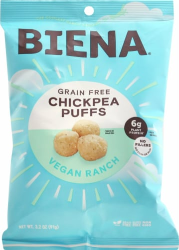 Biena Baked Chickpea Vegan Ranch Puffs Perspective: front