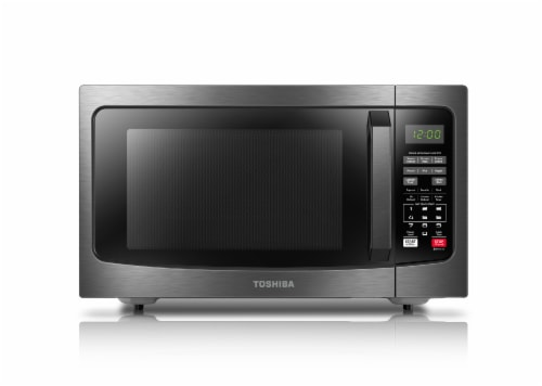 Toshiba Smart Sensor Microwave - Black Stainless Steel Perspective: front