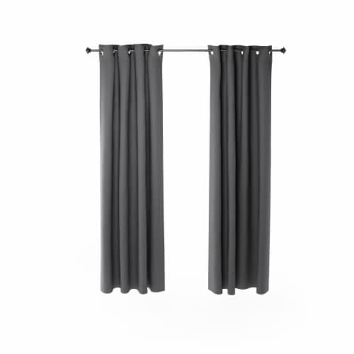 Dark Grey Furinno Collins Curtain 52x84 inches Perspective: front