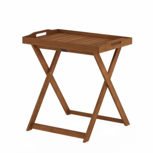 Furinno FG19557 Tioman Outdoor Hardwood Tray Table Perspective: front
