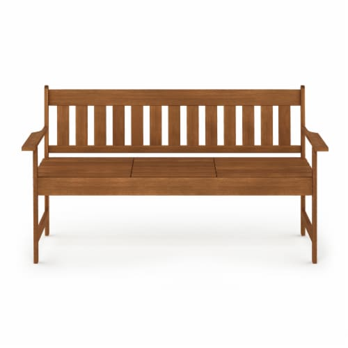 Furinno Tioman Outdoor Hardwood Occasional Bench Perspective: front